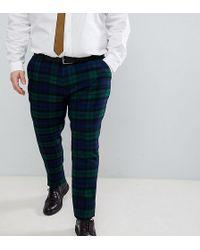 ASOS - Design Plus Wedding Super Skinny Suit Trousers In Blackwatch Tartan Check - Lyst