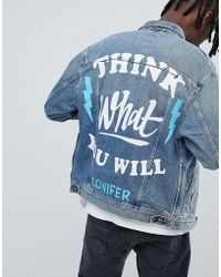 Lee Jeans - X Conifer Oversized Rider Denim Jacket - Lyst