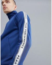 Peak Performance - Tech Club Tricot Taped Track Jacket In Navy - Lyst