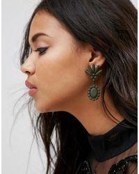 ASOS - Statement Colour Drench Jewel Drop Earrings - Lyst