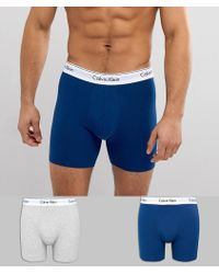 CALVIN KLEIN 205W39NYC - Modern Cotton Boxer Brief Trunks 2 Pack - Lyst