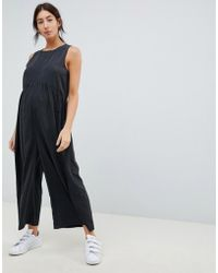 0d90fb670e2e ASOS - Asos Design Maternity Minimal Jumpsuit With Ruching Detail - Lyst