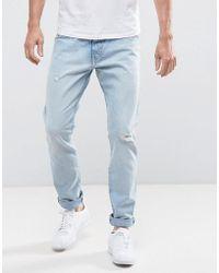 Wrangler - Larston Slim Tapered Jeans Salt - Lyst