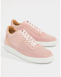 PS by Paul Smith - Dizon Suede Trainers In Dusty Pink - Lyst