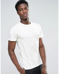 SELECTED - T-shirt With Overdye Wash - Lyst