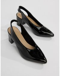Vero Moda - Patent Sling Back Shoes - Lyst
