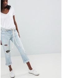 Abercrombie & Fitch - Midrise Straight Leg Jean With Rips And Distressing - Lyst