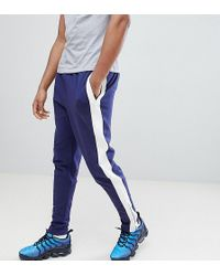 Sixth June - Skinny Joggers In Blue With Side Stripe Exclusive To Asos - Lyst