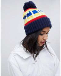 Polo Ralph Lauren - Slogan Bobble Hat - Lyst