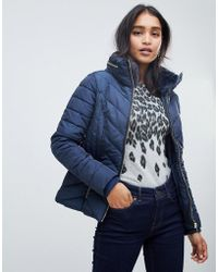 Oasis - Padded Jacket In Navy - Lyst