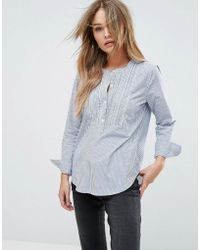 Abercrombie & Fitch | Smocked Sleeve Shirt With Cuff Detail | Lyst