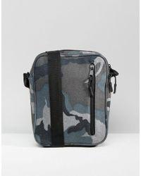 ASOS - Flight Bag In Camo Melton - Lyst