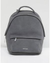 Matt & Nat - Mini Munich Faux Suede Grey Backpack - Lyst