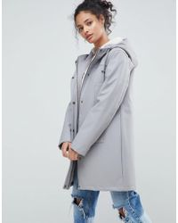 ASOS - Design Fleece Lined Raincoat - Lyst