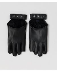 ASOS - Leather Look Strapping Gloves - Lyst