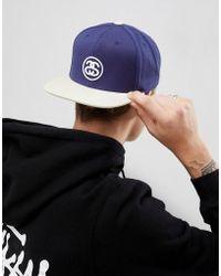 Stussy - Snapback Cap With Link Logo - Lyst