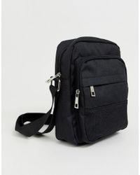 New Look - Flight Bag With Zip Detail In Black - Lyst