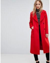 Reiss - Longline Coat With Side Split Details - Lyst