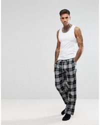 New Look - Pyjama Bottoms In Black Check - Lyst