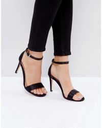 Call It Spring - Ahlberg Satin Barely There Heeled Sandals - Lyst
