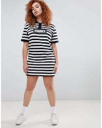 Charm's - Polo T-shirt Dress With Logo In Bold Stripe - Lyst