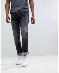 Blend - Jet Distressed Slim Fit Jeans In Washed Black - Lyst