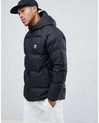adidas Originals - Reversible Hooded Down Puffer Jacket In Black Dh5003 - Lyst