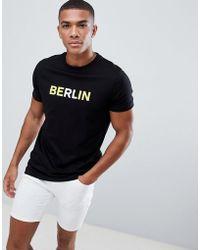 ASOS DESIGN - T-shirt With Berlin Slogan Print - Lyst