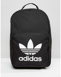 ab2714de12 adidas Originals - Originals Trefoil Logo Backpack In Black - Lyst