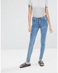 Pieces - Jute Mid Rise Cropped Skinny Jeans - Lyst