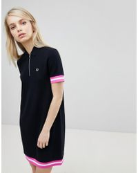 Fred Perry - Tipped Pique Polo Dress - Lyst