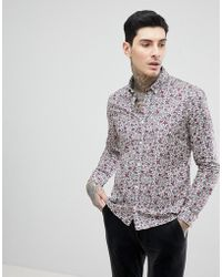 Pretty Green - Liberty Floral Shirt In Purple - Lyst