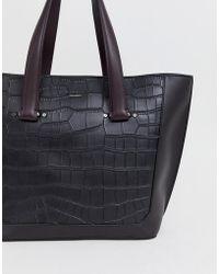 Fiorelli - Shopper Bag In Black Croc - Lyst