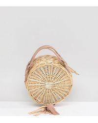 South Beach - Round Straw Cross Body Bag With Tassel - Lyst
