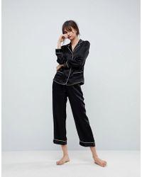 ASOS - 100% Silk Pyjama Set - Lyst