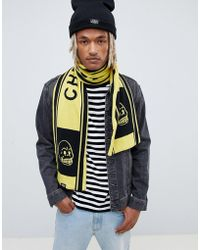 Cheap Monday - Football Scarf In Black And Yellow - Lyst