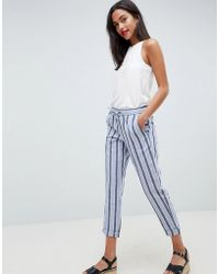 French Connection - Stripe Trousers - Lyst