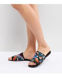 ASOS - Design Flute Embroidered Mules - Lyst