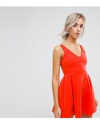 ASOS - High Apex Seamed Scuba Mini Dress - Lyst