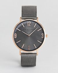 Elie Beaumont - Gunmetal Watch With Tonal Sunray Dial - Lyst
