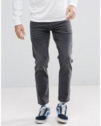 ASOS - Stretch Slim Jeans In Vintage Washed Black - Lyst