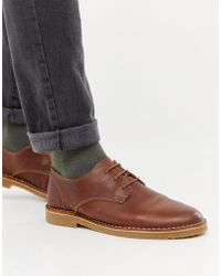 Office - Inferno Desert Shoes In Tan Leather - Lyst