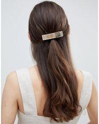 ASOS - Sleek Barette Hair Clip In Brushed Gold - Lyst