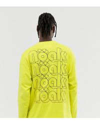 4b9bd427 Noak Oversized Long Sleeve T-shirt With Embossed Logo in White for ...