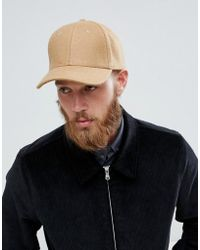 SELECTED - Porter Baseball Cap In Wool Mix - Lyst