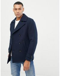 Jack & Jones - Originals Navy Peacoat - Lyst