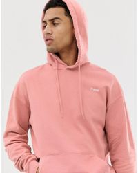 c0166edf34a94f Jack   Jones - Originals Drop Shoulder Hoodie In Pink - Lyst