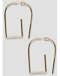 ASOS DESIGN - Earrings In Geometric Front Back Design In Gold - Lyst