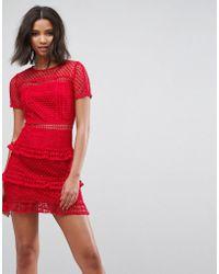 Liquorish - Layered Lace Dress - Lyst