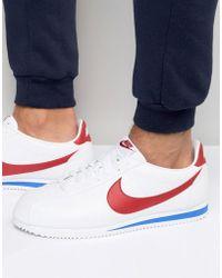 Nike Formateurs En Cuir Blanc Cortez En 749571-154 - Blanc 0PC707eTX
